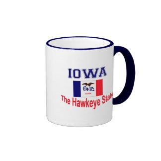 Apodo de Iowa Taza A Dos Colores