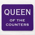 Apodo divertido de la mujer CFO - reina de los con Tapete De Ratones