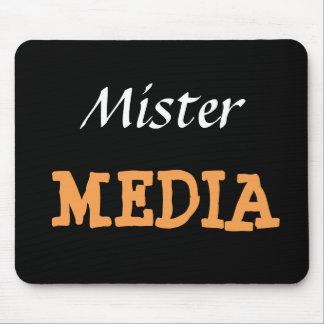 Apodo divertido de Sr. Media Male Journalist Mouse Pad
