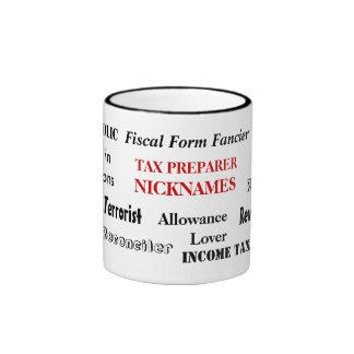 Apodos del preparador de impuesto taza de dos colores