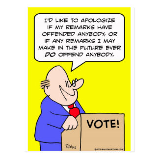 apoligize al político ofendido postal