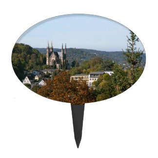 Apollinaris church in Remagen, Germany Cake Topper