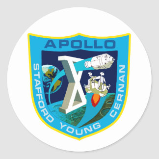 Apollo 10:  To The Moon Again! Classic Round Sticker