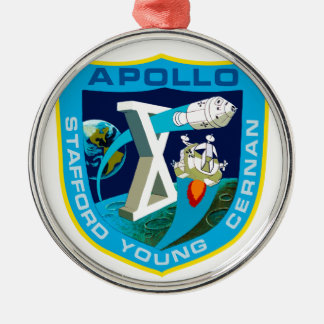 Apollo 10: To the Moon Metal Ornament