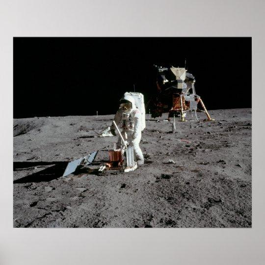 """Apollo 11 Astronaut & Lunar Module """"Eagle"""" Poster"""