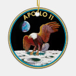 Apollo 11 ceramic ornament