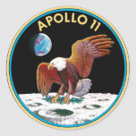 Apollo 11 classic round sticker