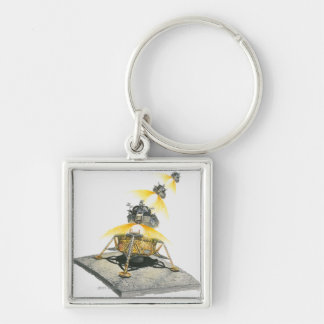 Apollo 11 Eagle module taking off from the Moon Keychain