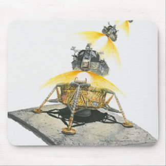 Apollo 11 Eagle module taking off from the Moon Mouse Pad