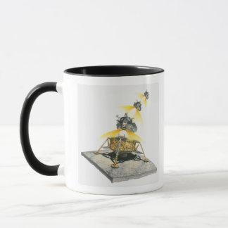 Apollo 11 Eagle module taking off from the Moon Mug