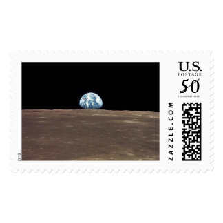 APOLLO 11 EARTHRISE (earth moon solar system) ~.jp Postage