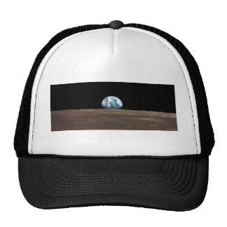 APOLLO 11 EARTHRISE (earth moon solar system) Trucker Hat