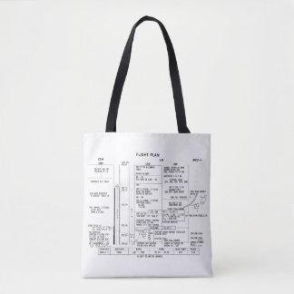 Apollo 11 Flight Plan Tote Bag