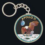 """Apollo 11 keychain<br><div class=""""desc"""">Apollo 11 insignia</div>"""