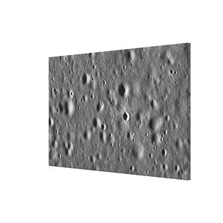 Apollo 11 landing site stretched canvas print