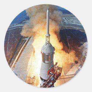 Apollo 11 Launch Classic Round Sticker