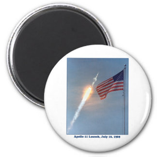 Apollo 11 Launch July 16, 1969 2 Inch Round Magnet