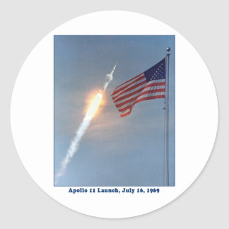Apollo 11 Launch July 16, 1969 Classic Round Sticker