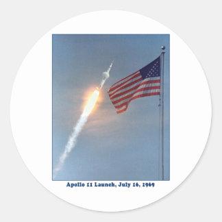 Apollo 11 Launch July 16, 1969 Stickers