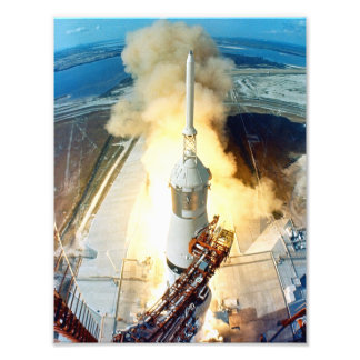 Apollo 11 Launch Photo Print