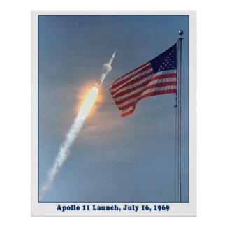Apollo 11 Launch to the Moon, July 16, 1969 print