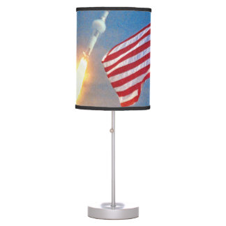 Apollo 11 launch with American Flag Desk Lamp