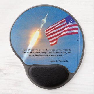 Apollo 11 launch with American Flag Gel Mouse Pad