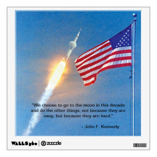 Apollo 11 launch with American Flag Wall Decal
