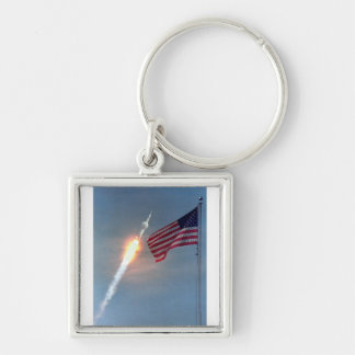 Apollo 11 launch, with flag, NASA Keychain