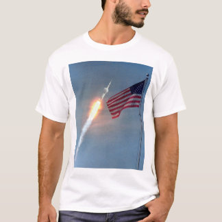 Apollo 11 launch, with flag, NASA T-Shirt