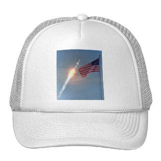 Apollo 11 launch, with flag, NASA Trucker Hat
