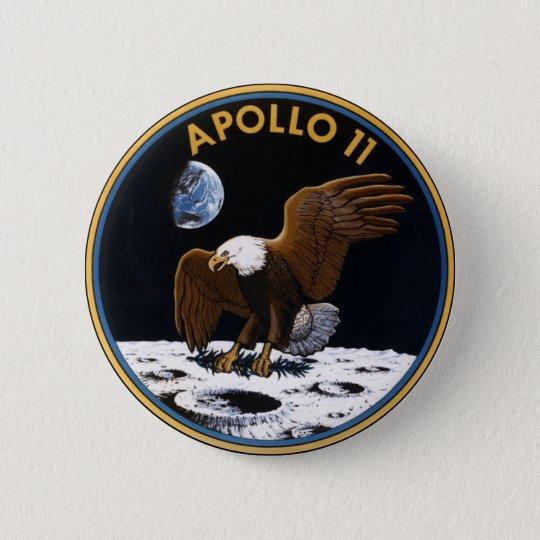 Apollo 11 pinback button