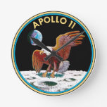 Apollo 11 round clock
