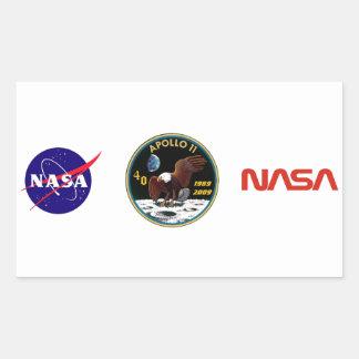 Apollo 11 We Reach The Moon Rectangle Sticker