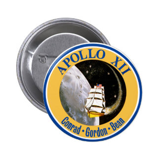 Apollo 12: Back to the Moon! Pinback Button