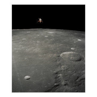 Apollo 12 Lunar Module above the Moon Poster