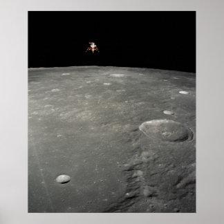 Apollo 12 Lunar Module above the Moon Posters