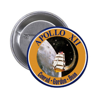 Apollo 12 Mission Patch Buttons