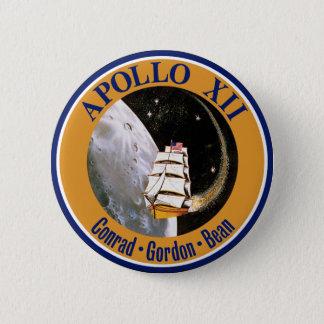 Apollo 12 Mission Patch Logo Button