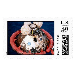 Apollo 13 before hoisting aboard USS Iwo Jima. Postage