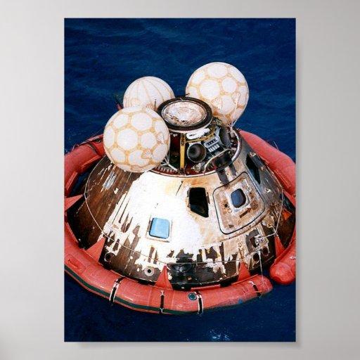 Apollo 13 Command Module after Splashdown Poster