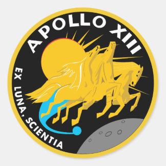 Apollo 13 NASA Mission Patch Logo Classic Round Sticker