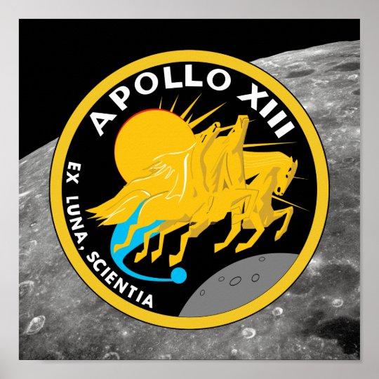Apollo 13 NASA Mission Patch Logo Poster