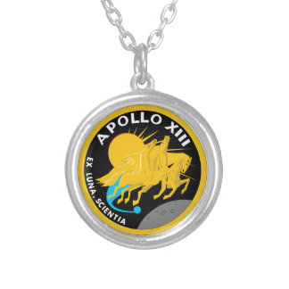 Apollo 13 NASA Mission Patch Logo Silver Plated Necklace