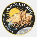 Apollo 13 round sticker