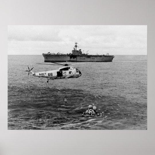 Apollo 13 Splashdown & Recovery Poster