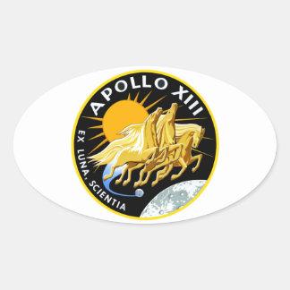 Apollo 13: Survival Oval Sticker