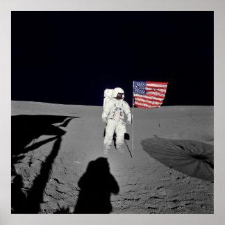 Apollo 14 Lunar Spacewalk Poster