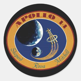 Apollo 14 NASA Mission Patch Logo Classic Round Sticker