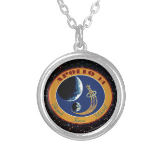 Apollo 14 NASA Mission Patch Logo Silver Plated Necklace